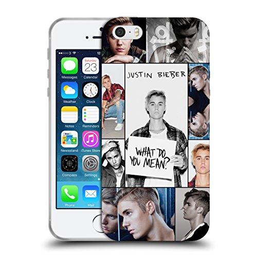 Head Case Designs Offizielle Justin Bieber Netz Poster Purpose Soft Gel Huelle kompatibel mit Apple iPhone 5 / iPhone 5s / iPhone SE 2016