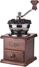 Coffee Grinder Classical Wooden Manual Coffee Grinder Hand Retro Coffee Spice Mini Burr Mill with Ceramic Millston Coffee Grinder Home Decoration Creative