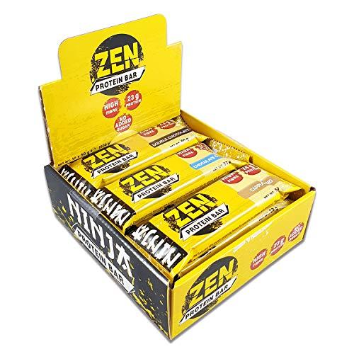 Ninja Zen High Protein Low Carb Bars,No Added Sugar Snacks 12 x 50g (Cappuccino)
