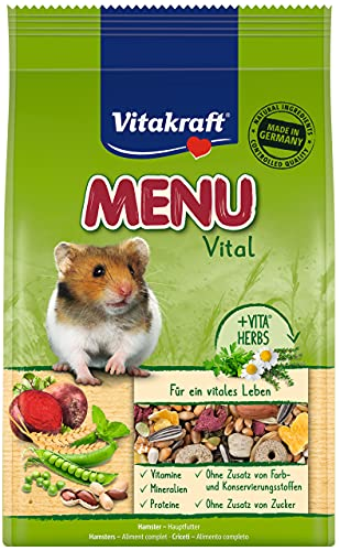 VITAKRAFT Vita Fuerza Solos Forro para hámster, Forro Mezcla equilibrada, Premium Menú Vital