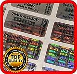 250 adesivi di sicurezza con sigillo di qualità ologramma, 32 x 15 mm