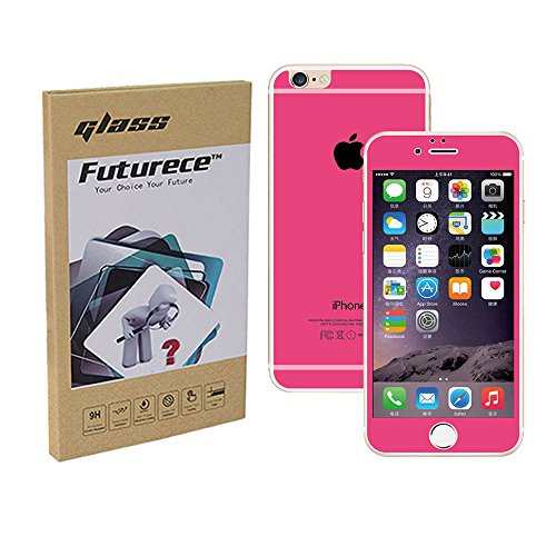"""Rose Red Colorful Tempered Glass Screen Protector For iPhone 6 / iPhone 6S Security Guard Film Extreme Clarity Shield Anti Scratch Fingerprint Resistant Explosion Proof Oleophobic 4.7""""Screen"""