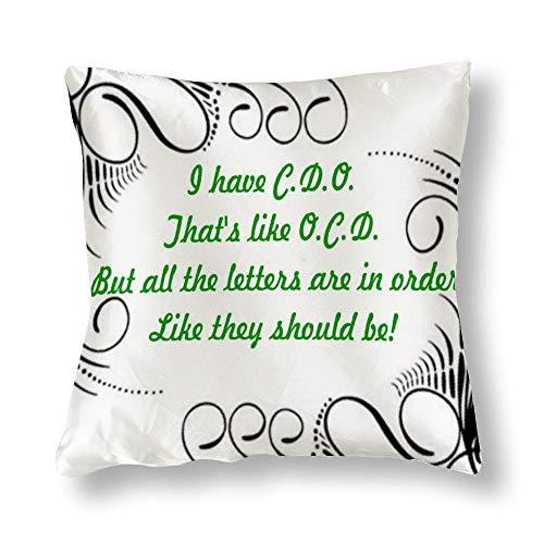 perfecone Home Improvement - Funda de almohada de algodón para sofá y coche (1 unidad, 45 x 45 cm)