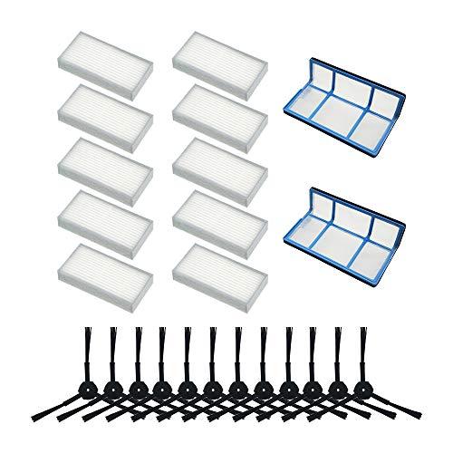 WuYan Filtro Antipolvere primario Spazzola Laterale Filtro Hepa efficiente per aspirapolvere Robot ilife v5 v5s V3 V3s v5pro V50 V55 x5 v5s PRO Robot aspirapolvere