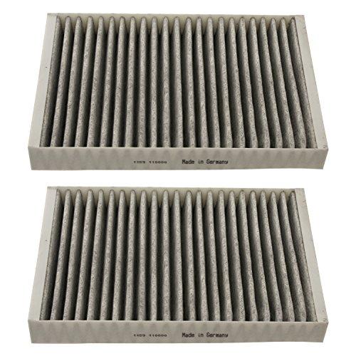 Preisvergleich Produktbild febi bilstein 30642 Aktivkohlefiltersatz / Innenraumfiltersatz / Pollenfiltersatz (Aktivkohlefilter / Innenraumfilter),  1 Stück