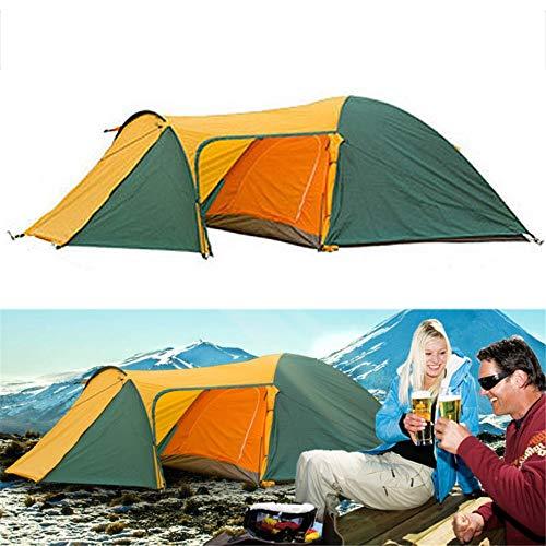 Kamp Shelter Groot formaat Outdoor Camping Wandelen Tent Familie Tent Waterdichte Dubbele Laag UV Proof Zonnescherm Luifel Met Installatie Onderdelen Tuinuitrusting