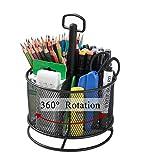 Organisateur de Bureau en Maille Stylo Rotatif Multifonctionnel et Porte-crayon, Organisateur Fixe...