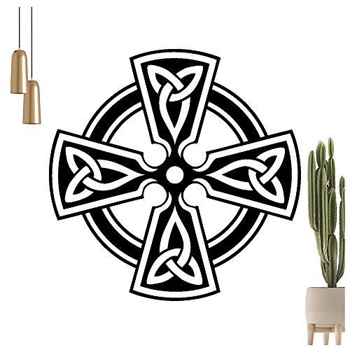 Hauptsachebeklebt, Adhesivo decorativo para pared, diseño de cruz, disponible en 6 tamaños