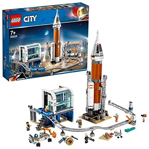LEGO 60228 City Cohete Espacial de Larga Distancia y Centro de Control, Juguete de Construcción