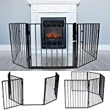 Fireplace Fence Metal Safety Gate for Fireplace Metal Play Yard for Pet Safety Fence Gate for Around Fireplace