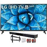 LG 55UN7300PUF 55' 4K UHD TV with AI ThinQ (2020) with Deco Gear Soundbar Bundle