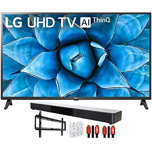 "LG 55UN7300PUF 55"" 4K UHD TV with AI ThinQ (2020) with Deco Gear Soundbar Bundle"