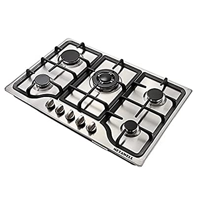 """METAWELL 30"""" Stainless Steel 5 Burner Built-in Stoves NG Gas Hob Cooktops Cooker"""