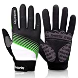 Image of Grebarley Cycling Gloves Bicycle Gloves Mountain Bike Gloves with Anti-Slip Shock-Absorbing Pad Breathable Full Finger MTB Sports Gloves for Men&Women (L)