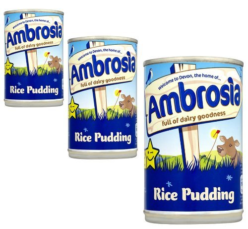 Ambrosia English Rice Pudding 3 can Pack (3 x 400g / 14.10oz)