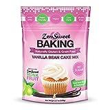 ZenSweet Baking Vanilla Bean Cake Mix - Grain Free, Sugar Free, Low Carb, Gluten Free, Paleo & Keto...