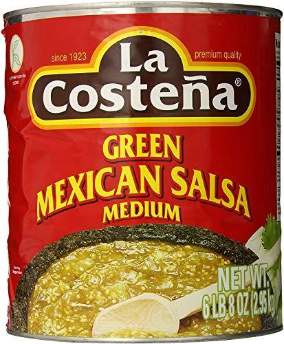 La Costena Salsa Mexicana Verde | 2950ml | Typisch Mexikanisch | mit Tomatillos | pikant | Hervorragender Geschmack
