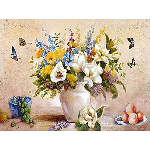 BJLBABY DIY Pintura por números Flores Frutas para Pintura por Números con...