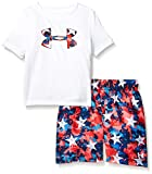 Under Armour Boys' Little UA Volley Set, White-S19, 7...