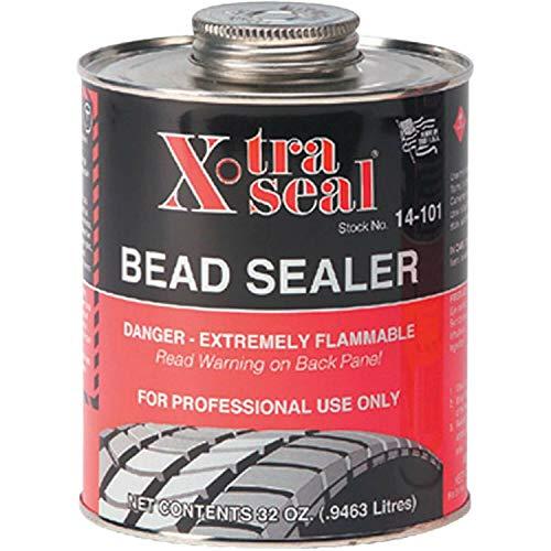 Xtra Seal Tire Bead Sealer 32 oz Black w/Brush Top Can PRO Quart