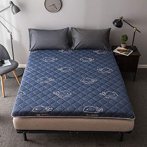 Folding Futon Matratze,Weich Schlafen pad, Atmungsaktive Langsam Rebound Japanischen Boden futon-matratze Futonbett Matratze Futon Gro?e Leicht zu Carry,B,1.0 * 2M