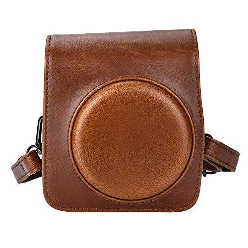 Voguecase® [Fujifilm Mini 70 Camera Bag] Vendimia Cámara Funda para Fujifilm Mini 70 Cámara fotográfica con Correa de Hombro marrón.