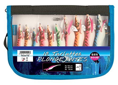 Trousse de 10 Calamarettes tissus Plongeantes