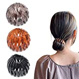 Expandable Ponytail Holder Clip, Vintage Geometric Retractable Hair Loops, Silicone Hair Tie Does for Not Hurt Hair (A)