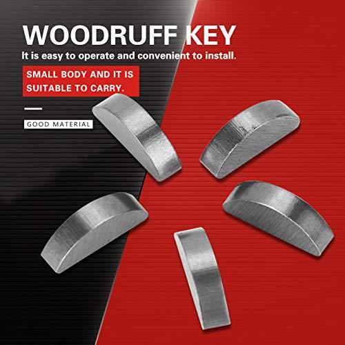 100 Stück Woodruff Key 45# Steel Semicircle Bond Woodruff Key Kit Zubehör 3 * 5 * 13mm Woodruff Key Sortiment