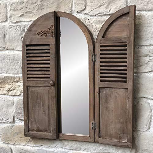 Spiegel mit Fensterläden aus Kiefernholz Höhe: 89 cm – Länge: 108 cm
