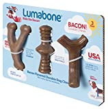 Lumabone Real Bacon Medium 3-Pack Durable Dog Toys