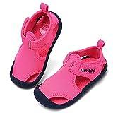 RANLY & SMILY nerteo Girls Water Shoes Kids, Toddler Sandals for Aqua Pool Beach Swim Hot Pink US 8 Toddler