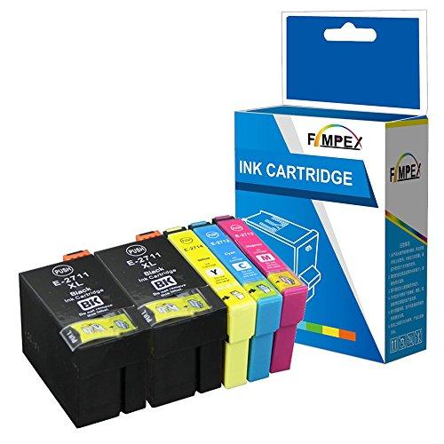 Fimpex Compatibile Inchiostro Cartuccia Sostituzione Per Epson WorkForce WF-3620 WF-3620DWF WF-3640DTWF WF-7110DTW WF-7210DTW WF-7610DWF WF-7620DTWF WF-7620TWF WF-7710DWF T2715 (BK/C/M/Y, 5-Pack)