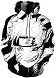 AMOMA - Sudadera con Capucha - para Hombre Naruto S/M