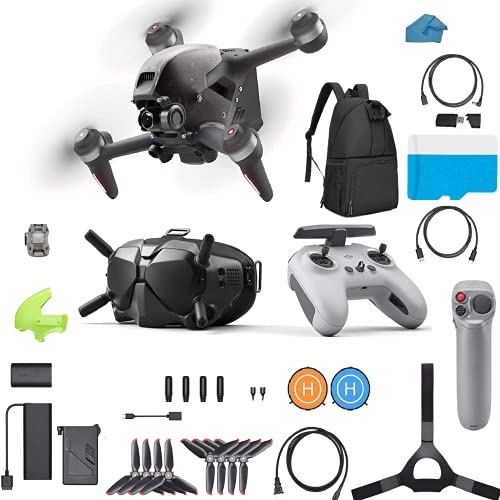 DJI FPV Combo Bundle - First-Person View Drone UAV Quadcopter Bundle with Joystick Motion 4K Camera, S Flight Mode, Super-Wide 150° FOV, HD Low-Latency Transmission, With 128GB SD Card Backpack
