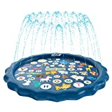 """HITOP Kids Sprinklers for Outside, Splash Pad for Toddlers & Baby Pool 60"""""""