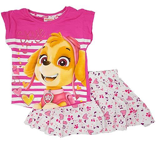 Paw Patrol - Helfer auf vier Pfoten Paw Patrol Rock und T-Shirt Mädchen Set (Pink, 4 Jahre (Gr. 104))
