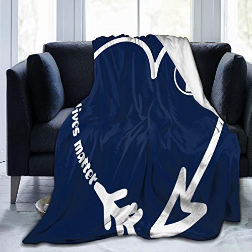 diy-nncase Throw Black Lives Matter Blanket Fit Bed- Fluffy Fleece Blanket Super Warm for Travel