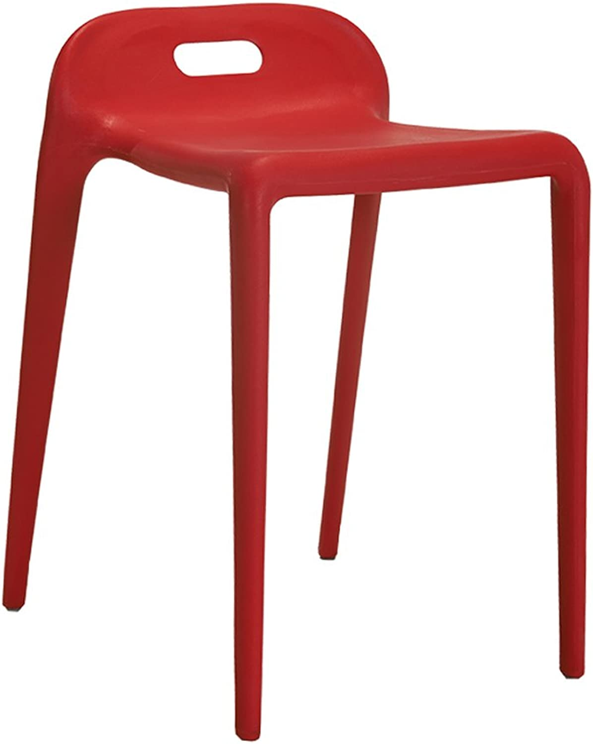 Creative Modern Dining Chair Simple Plastic Chair Reception Chair Home Stool Restaurant Rest Stool (color   Red)