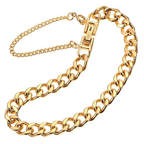 Amosfun Pulseras de oro para mujer, parejas, apilables, cadena ajustable para tobillo, muñeca, pie, joyas, regalo de amistad (dorado)