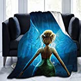 AIluToK Tinker Bell Fairies Super Soft Fleece Throw Blanket Adults Kids Baby Flannel Blankets for Couch Sofa Bed 60'x50'