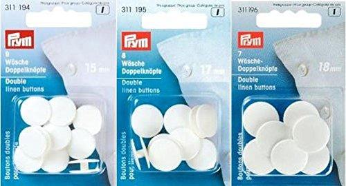 Wäsche-Doppelknöpfe KST 24´´ 15 mm weiß