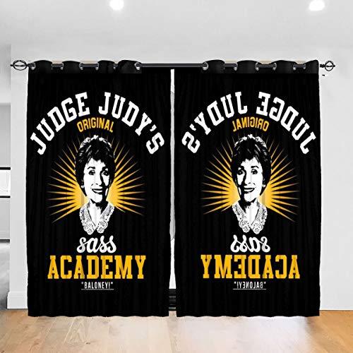 HONGYANW Personalisierte Verdunkelungsvorhänge Judys Sass Academy Thermo-Isolierender Vorhang für Schlafzimmer, Wohnzimmer, 132,2 x 182,9 cm, 2 Paneele