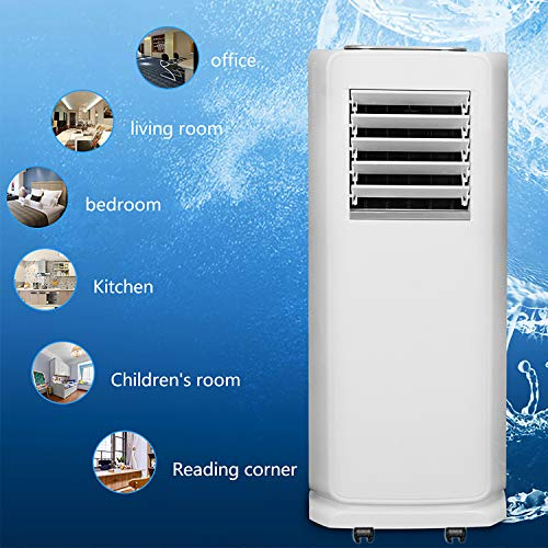 Hengda WiFi Portatile Condizionatore 4 in1,7000 BTU/h (2.0KW), Capacità 34L/Giorno, Raffreddamento, Deumidificatore, Ventilazione, Ventola con materiale di montaggio, telecomando e timer 24 ore