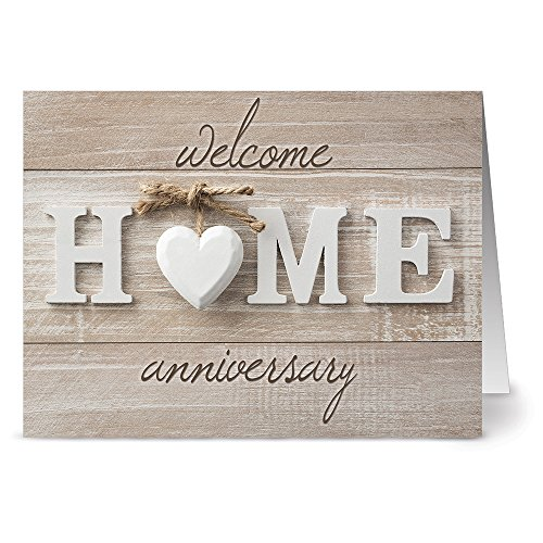 Note Card Cafe All Occasion Greeting Card Set with Envelopes | 36 Pack | Welcome Home Anniversary Design | Blank Inside, Glossy Finish | For Greeting Cards, Housewarming, New Home, Thank You, Realtor