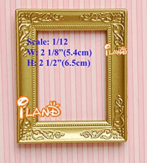 1:12 Scale Dollhouse Miniature Pictures Frame Photo Frames, 5.4x6.5cm High; Lot 4 Frames