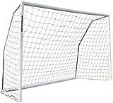 QUICKPLAY Pro Match-Fold Butée de Football 3 x 2M Portable avec Sac de Transport [Objectif Unique] Mise en Place Rapide du But de Football Pliable pour Les Clubs
