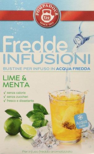 Pompadour Fredde Infusioni, Lime Menta - 18 Filtri