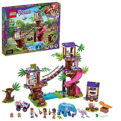 LEGO Friends Jungle Rescue Base 41424 Building Toy for Kids, Animal Rescue Kit That Includes a Jungle Tree House and 2 Elephant Figures for Adventure Fun, New 2020 (648 Pieces)