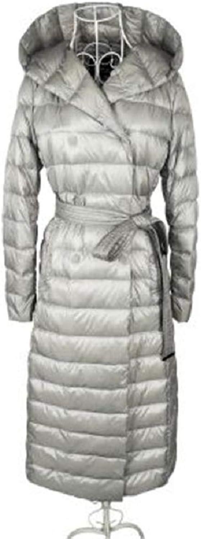Aehoor Womens Winter Light Down Jacket Long Large Size 90% Duck Down Hooded Slim Warm